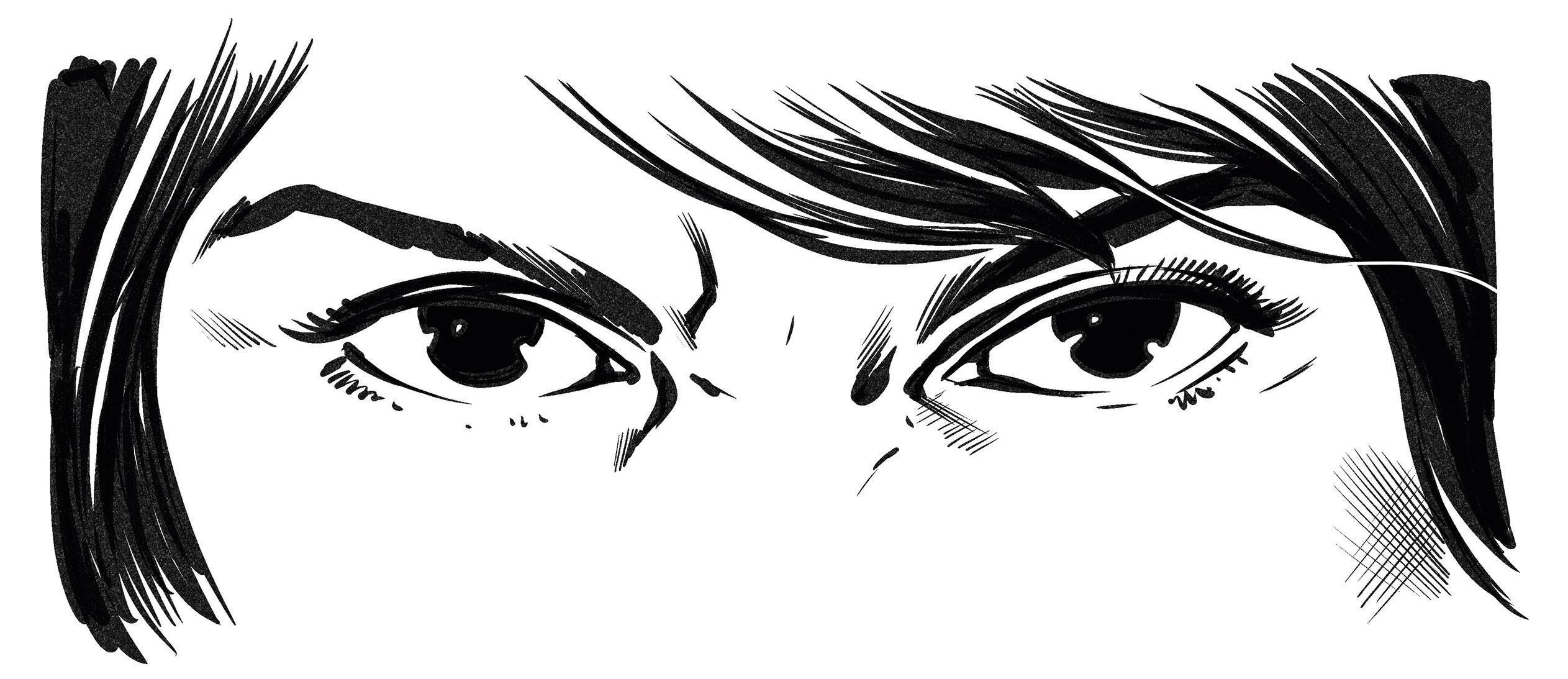 Illustration of a pair of eyes