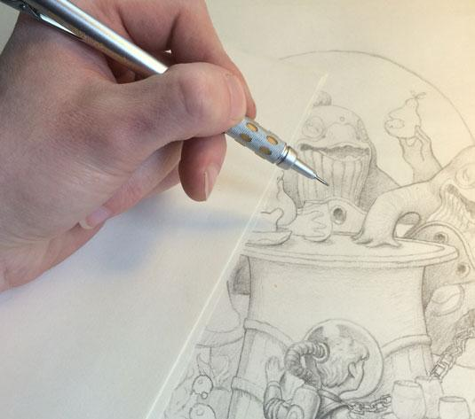 Sketching tips for beginners: avoid smudging