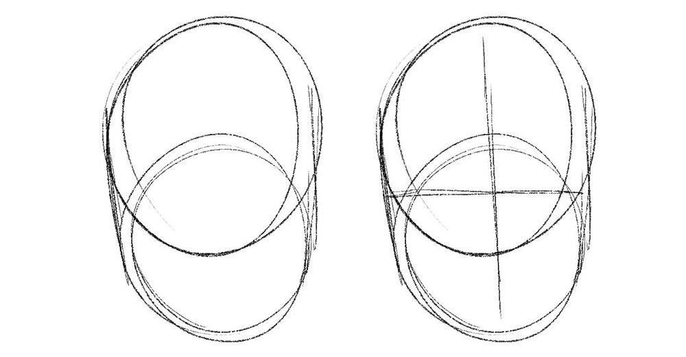 two overlapping circles