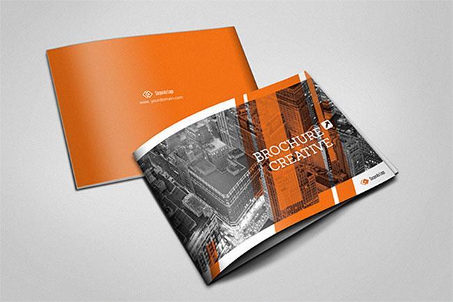 Best brochure templates: A5 horizontal brochure