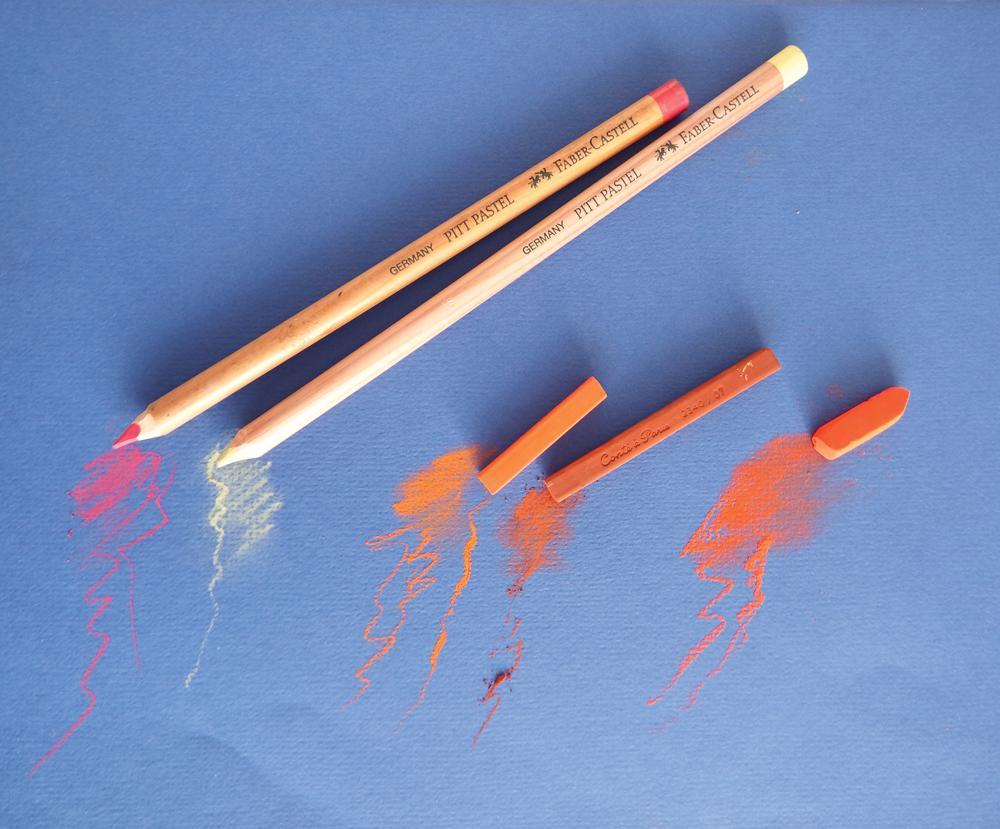 hard pastels