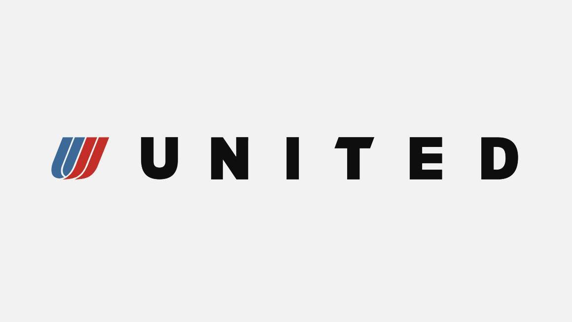 United Airlines branding by Pentagram