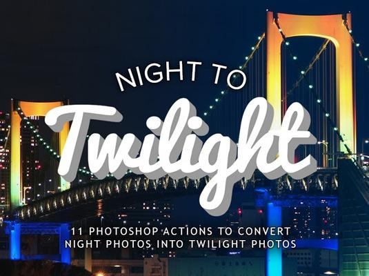 Free Photoshop actions: Night to Twilight