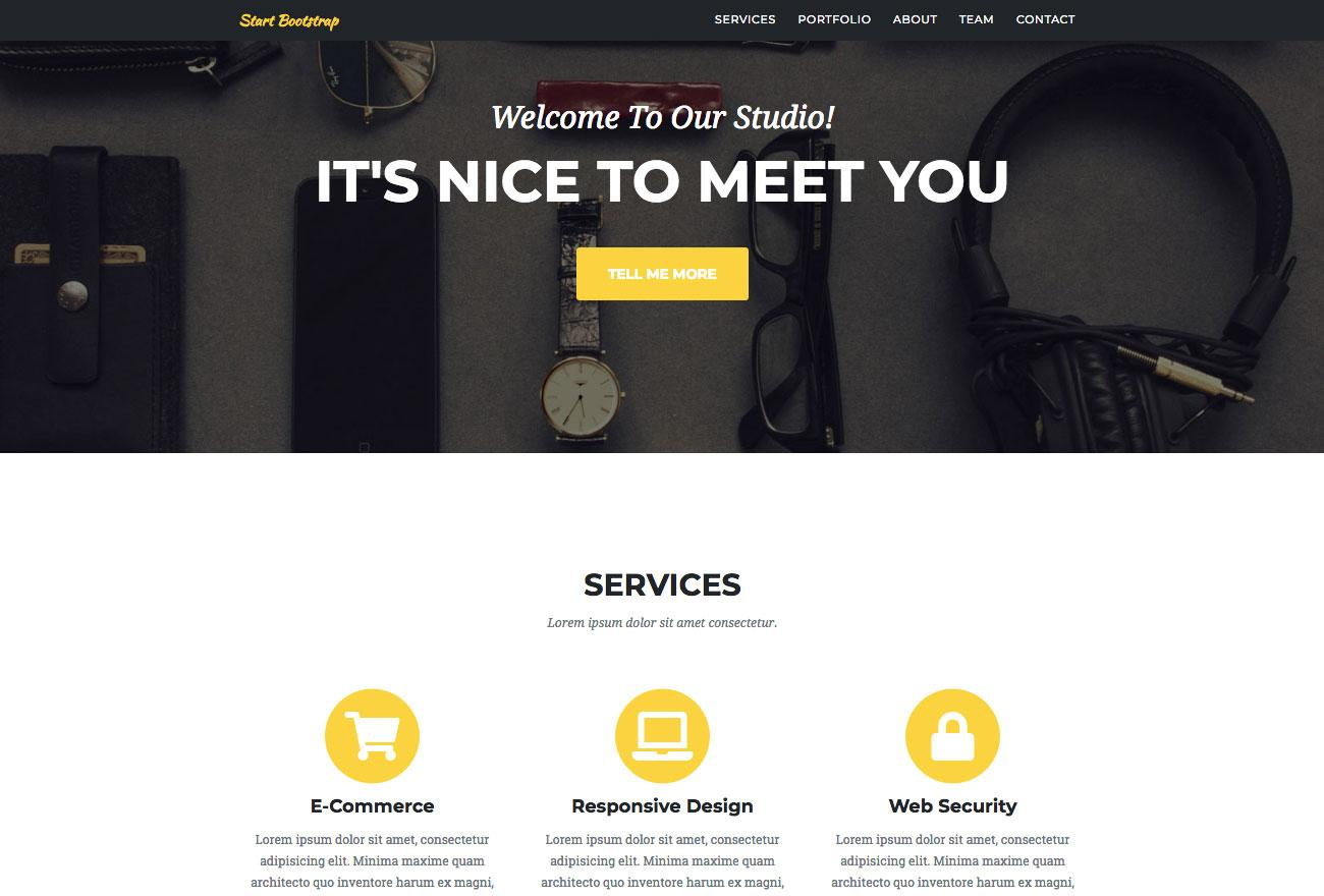 Free Bootstrap themes - Agency