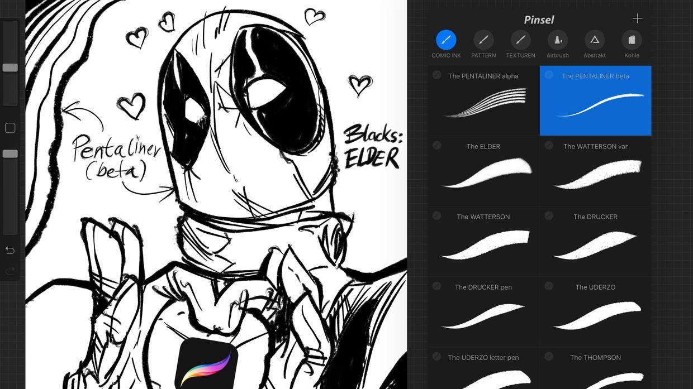 Comic Ink Brush Set