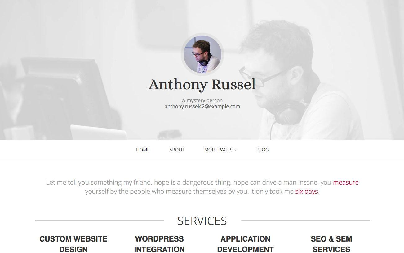 Free Bootstrap themes - Initio