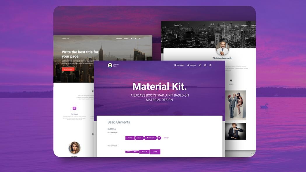Free Bootstrap themes - Material Kit