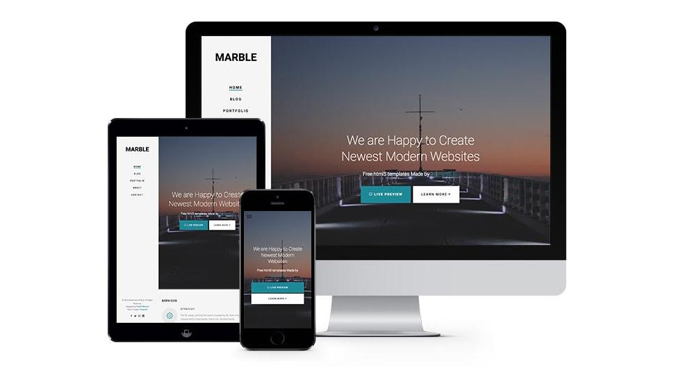 Free Bootstrap themes - Marble