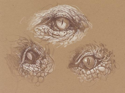 How to draw a dragon - eyes