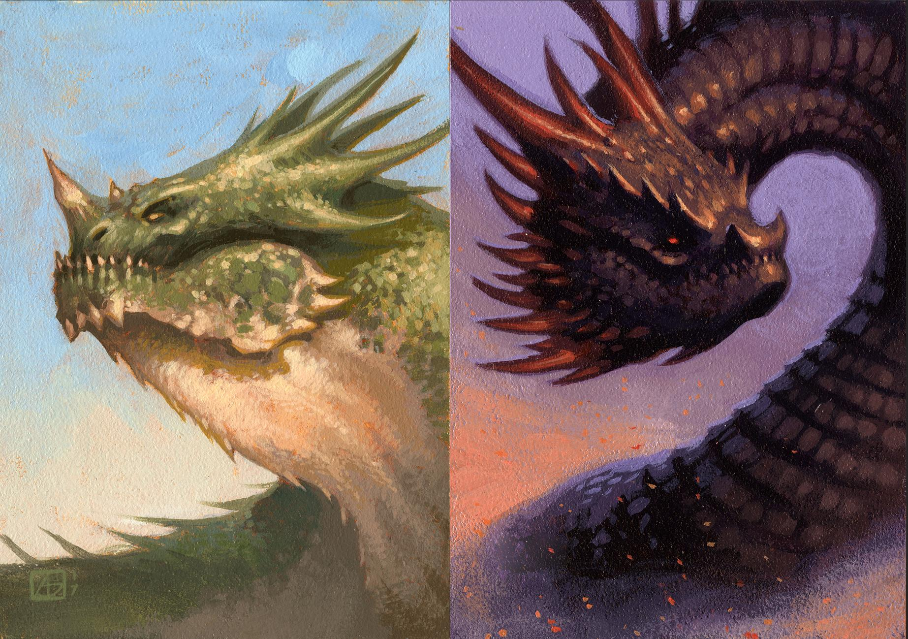dragons with different weights