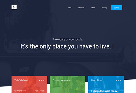 Free Bootstrap themes - Cardio