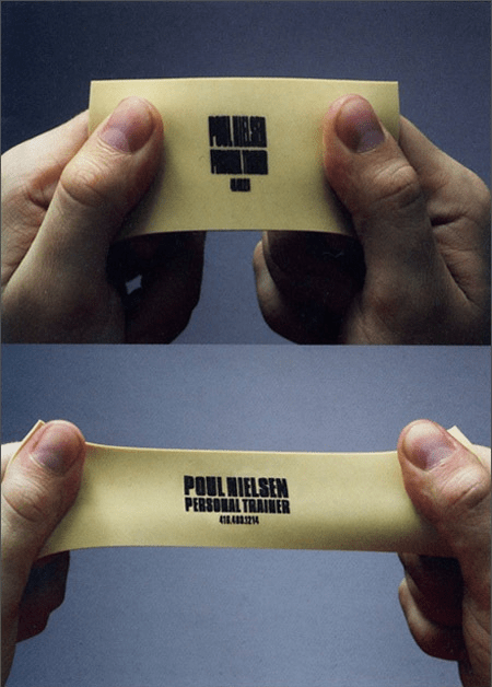 stretchy business card