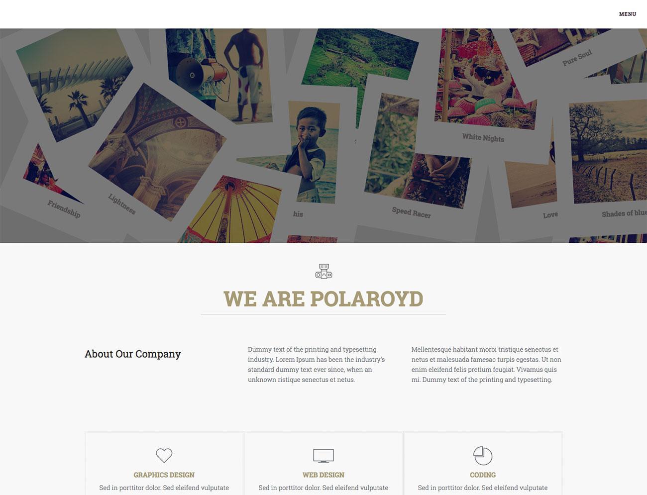 Free Bootstrap themes - Polaroyd