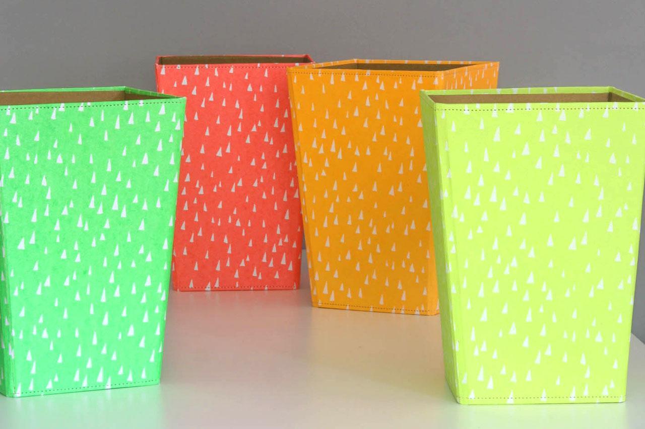 Karenza & Co fluro waste paper bin