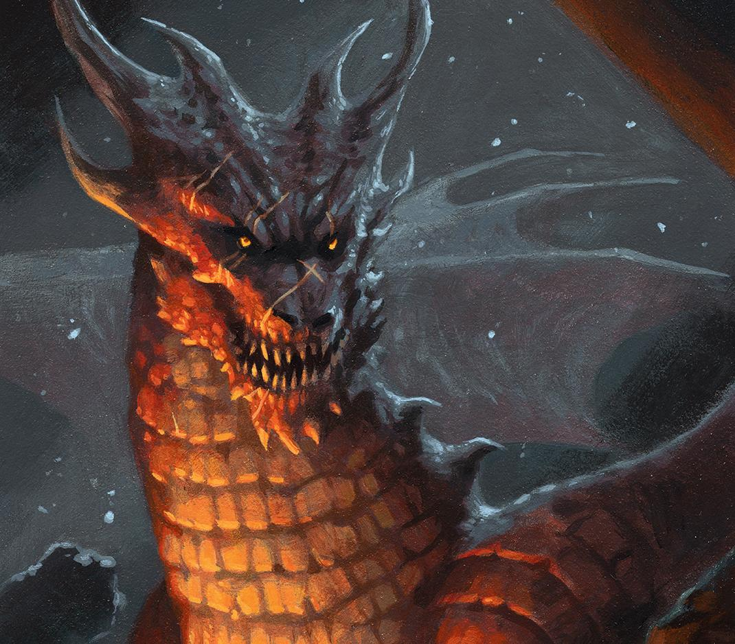 dragon with a grin