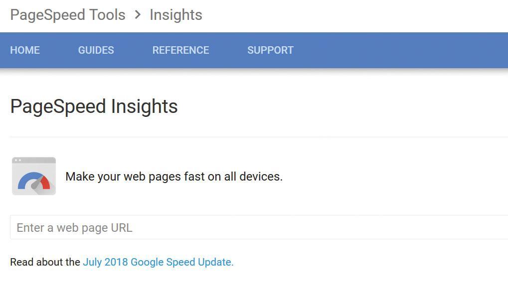 Google Analytics: page speed insights