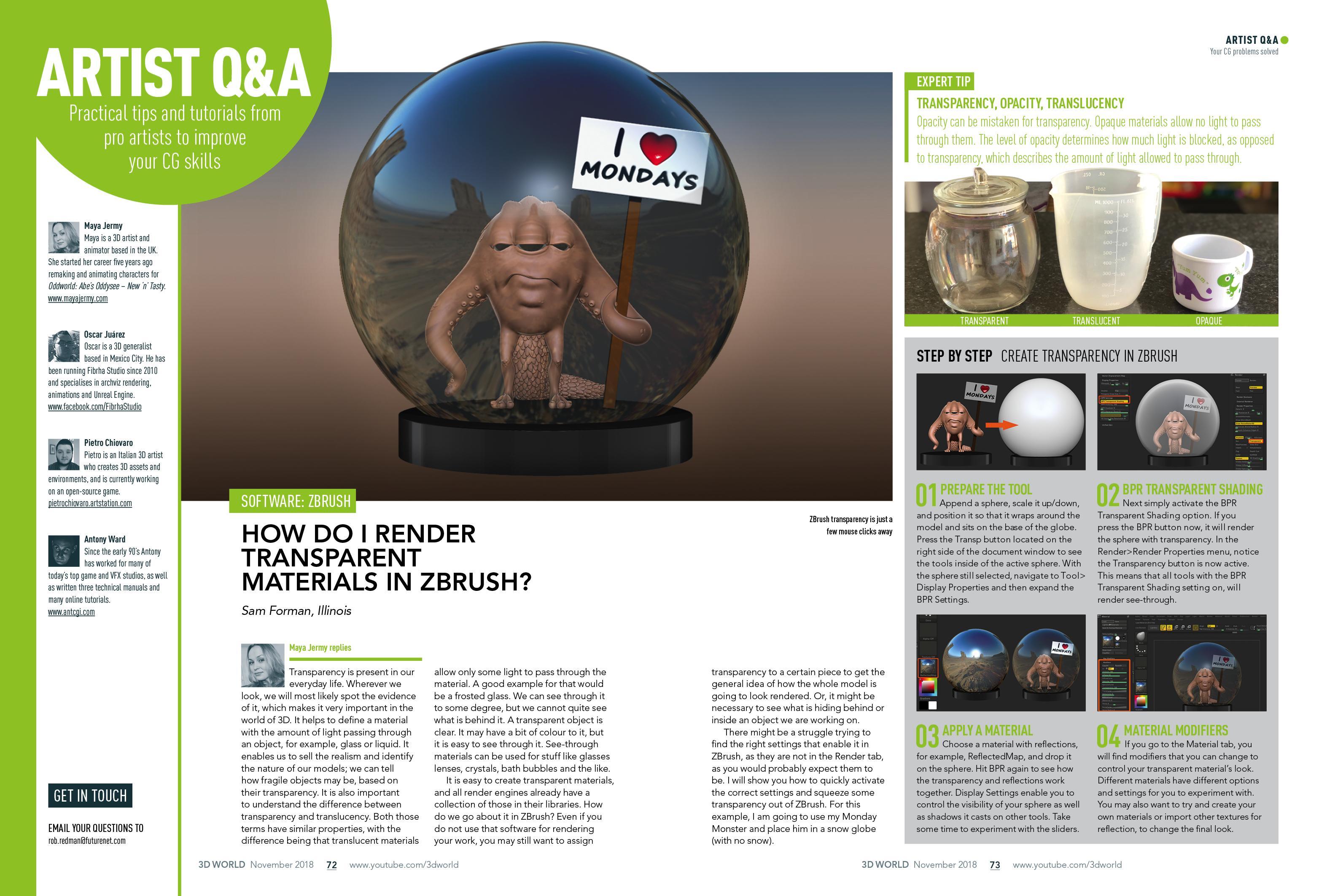 Q&A 3D world