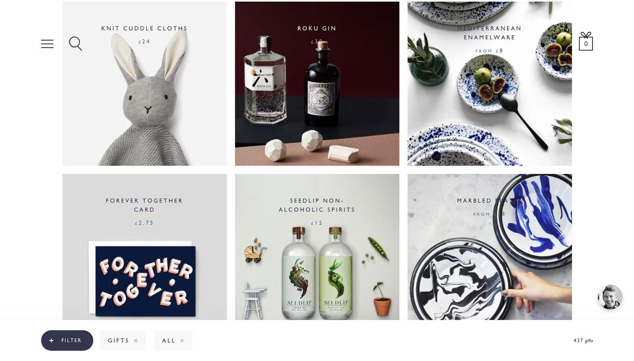 Ecommerce website designs: Not Another Bill