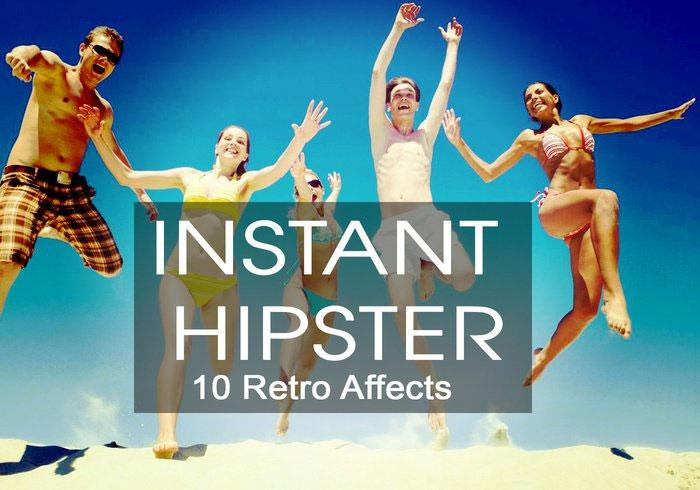 Free Photoshop actions: Instant Hipster