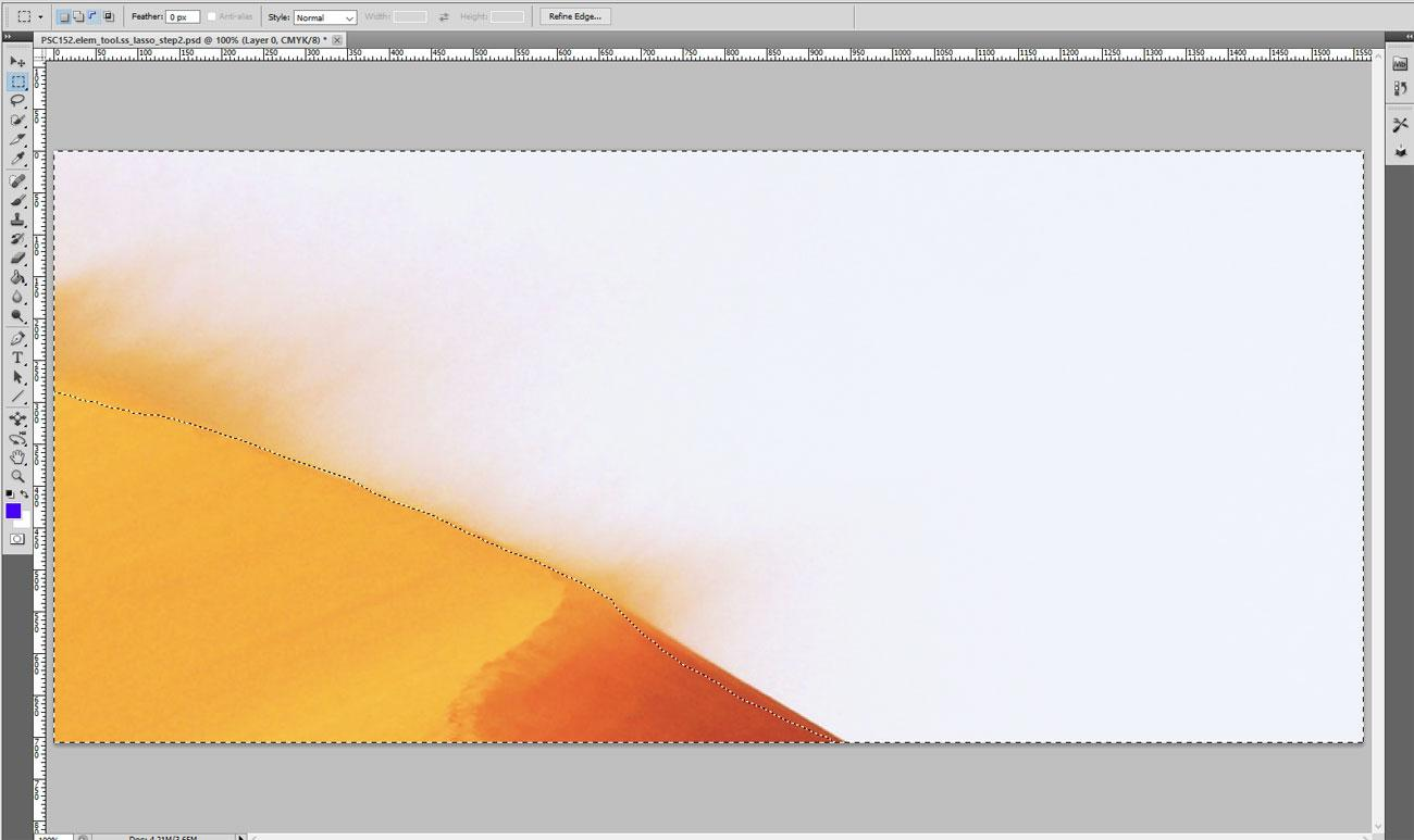 edge of a sand dune in Photoshop