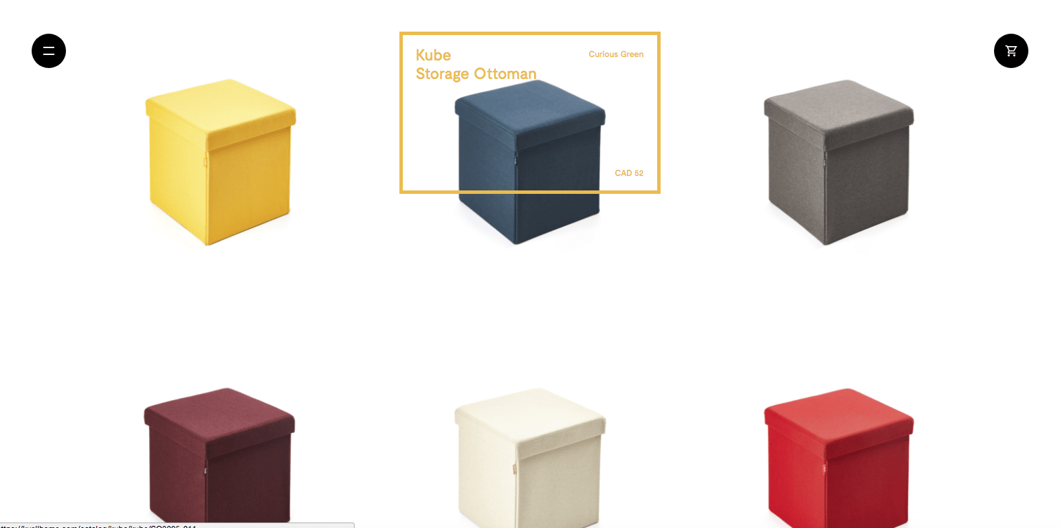 Ecommerce website designs: Kvell