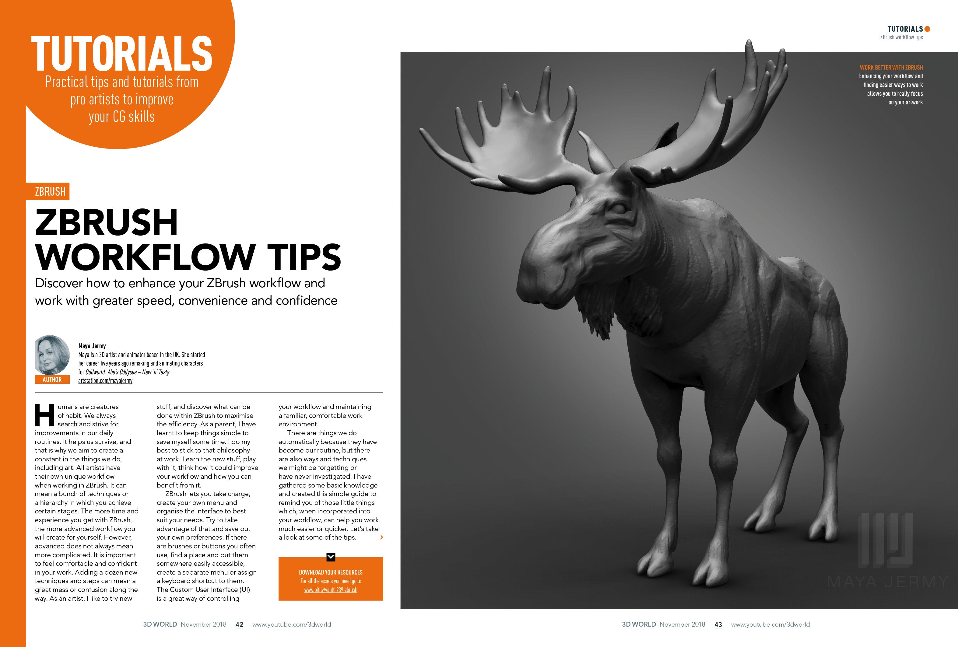 master your ZBrush workflow spread