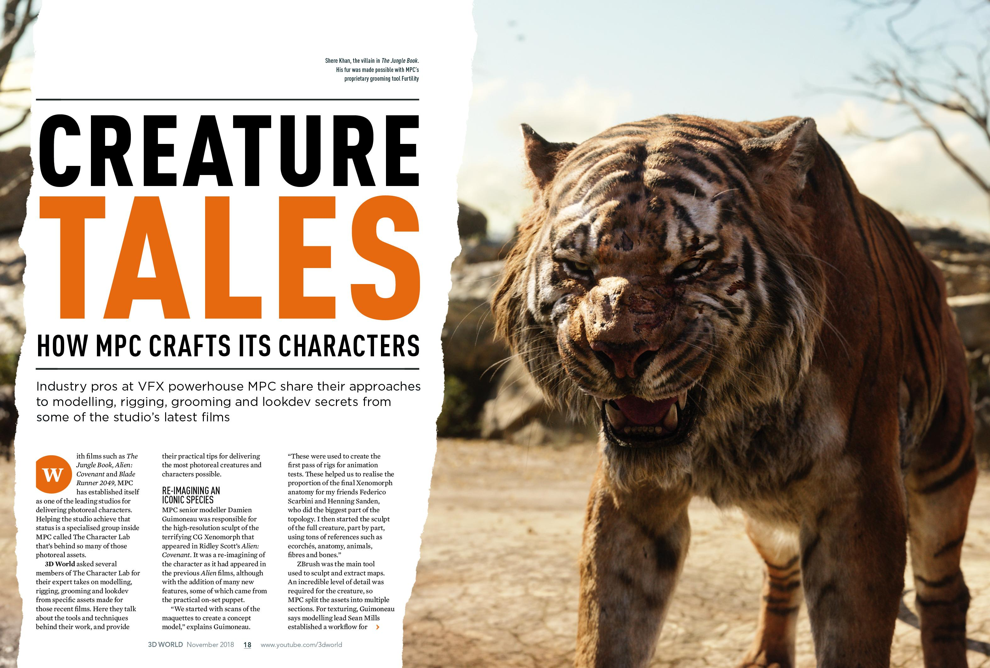 creature tales spread in 3D World