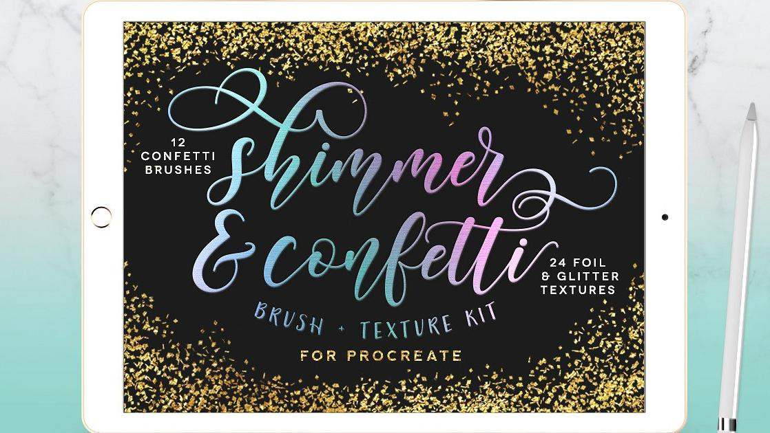 Brushes and foil textures Procreate brushes