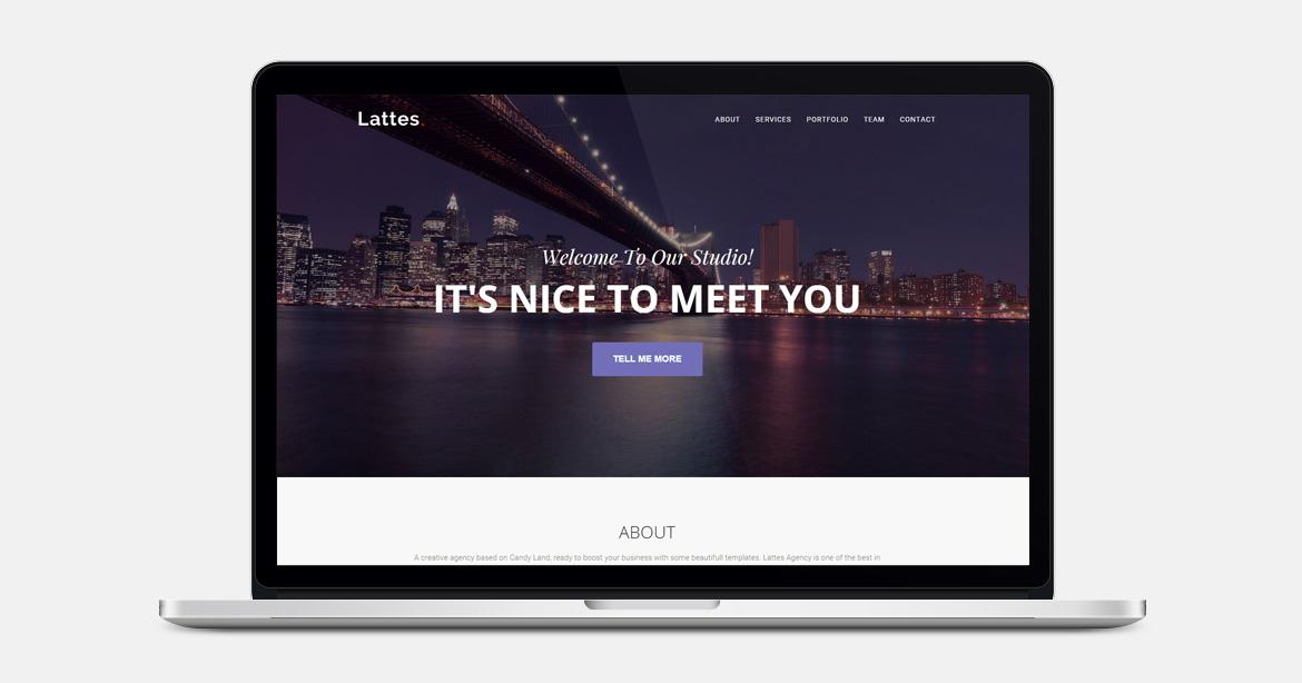 Free Bootstrap themes - Lattes