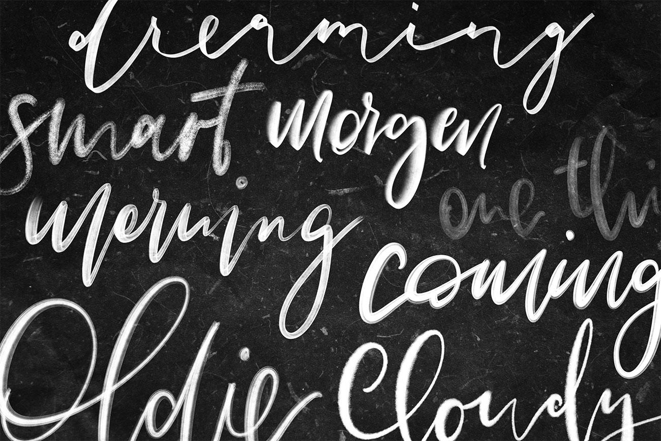 Procreate lettering and paint brushes