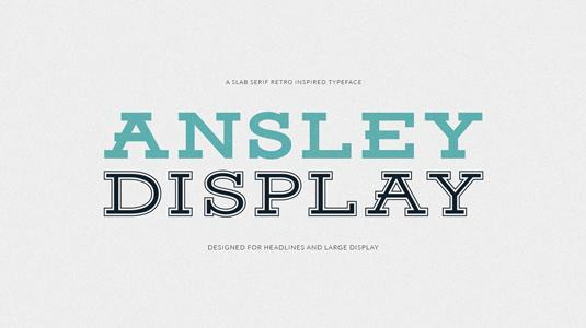Free retro fonts; Ansley