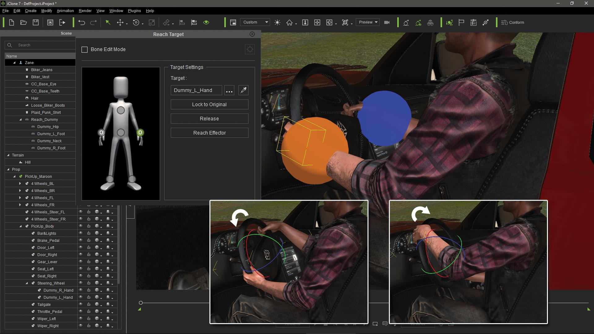 Make vehicle animations with iClone 7: Check the complete animation