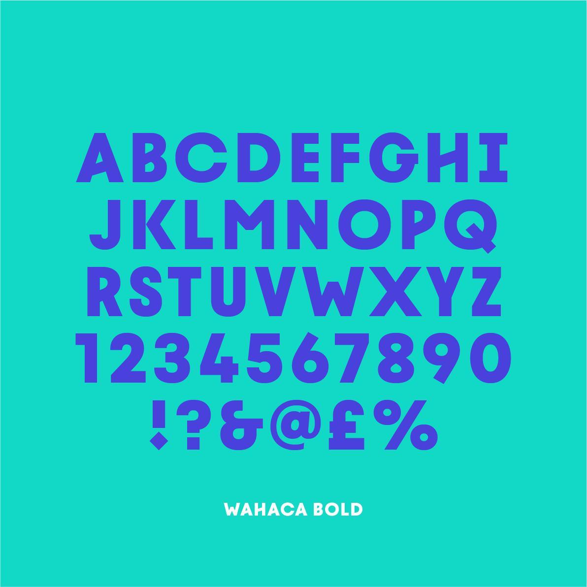 New Wahaca font