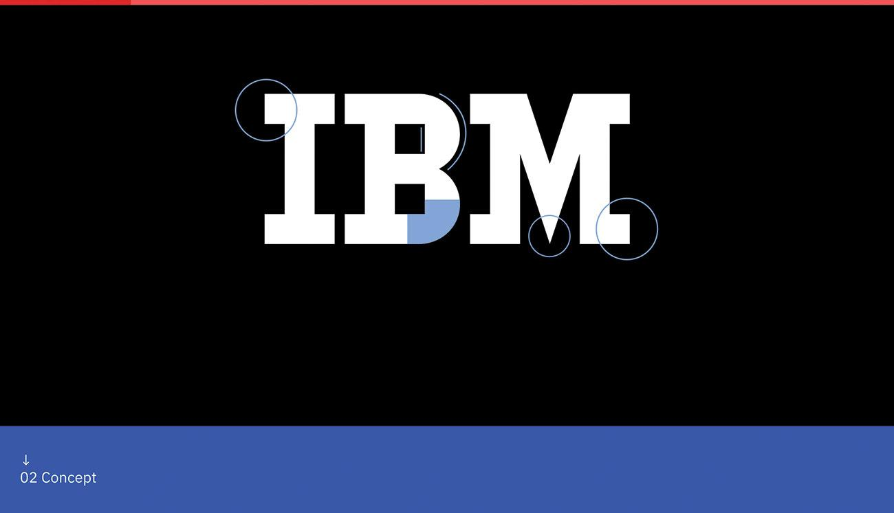 Landing page design - IBM Plex