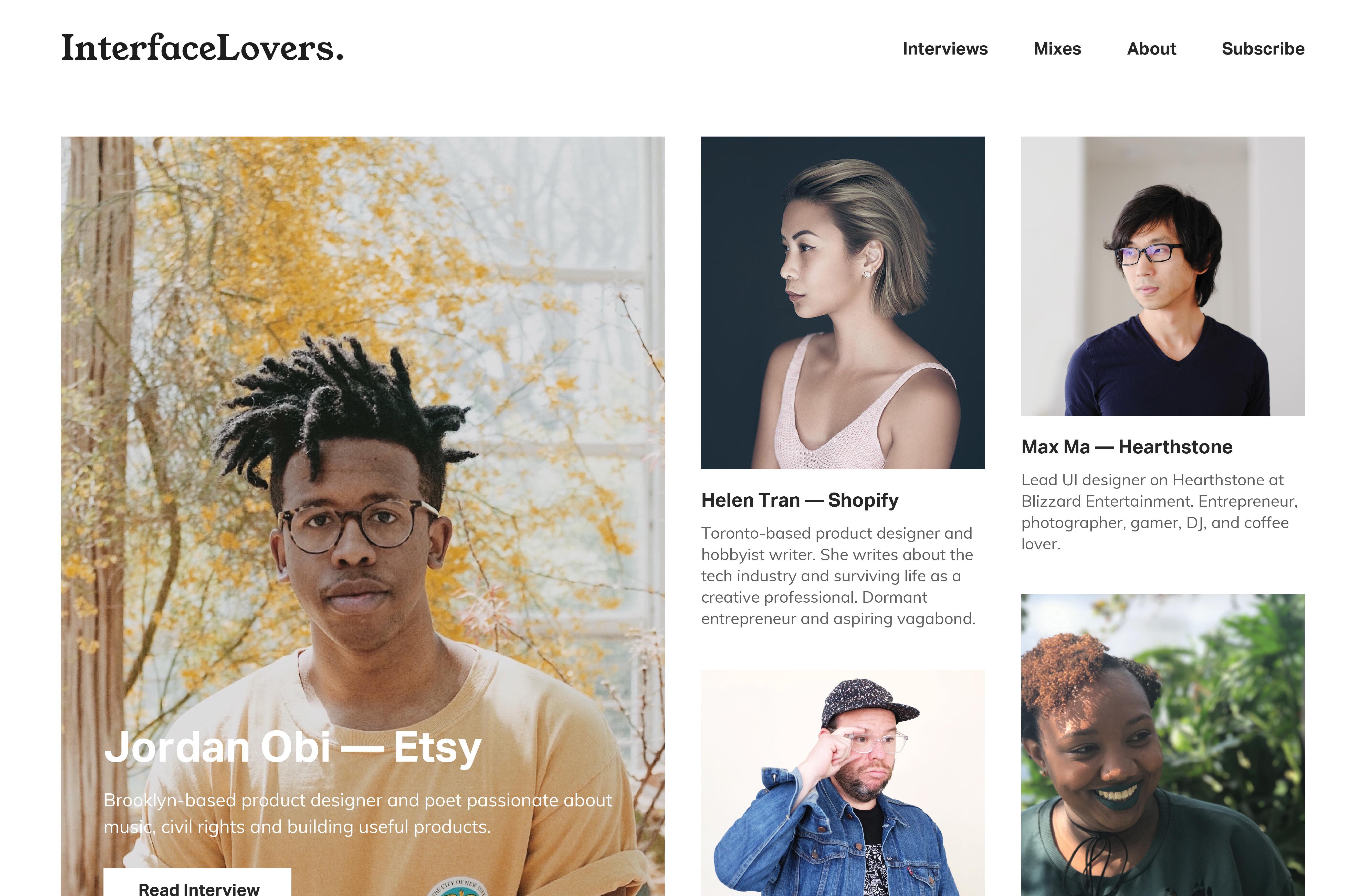 Landing page design - Interface Lovers