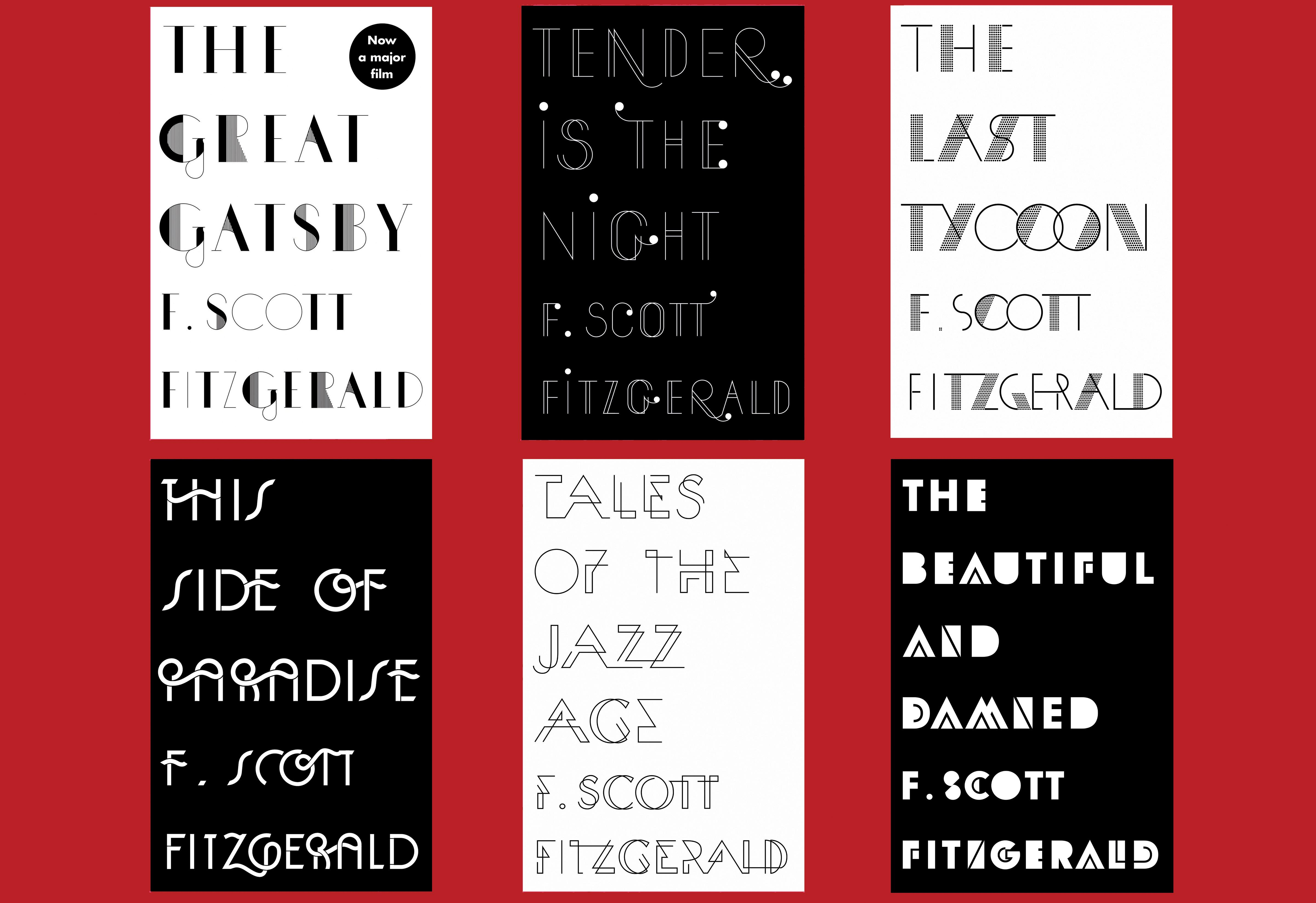 F. Scott Fitzgerald series By Sinem Erkas book covers