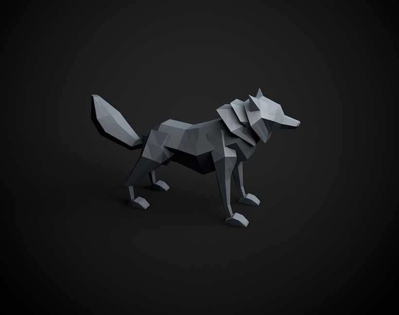 Cinema 4D tutorials: Model a low poly wolf
