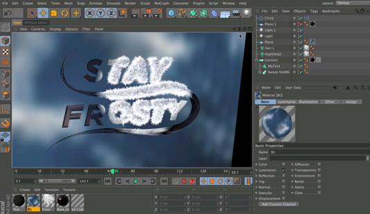 Cinema 4D tutorials: How to make an animated freezing ice effect