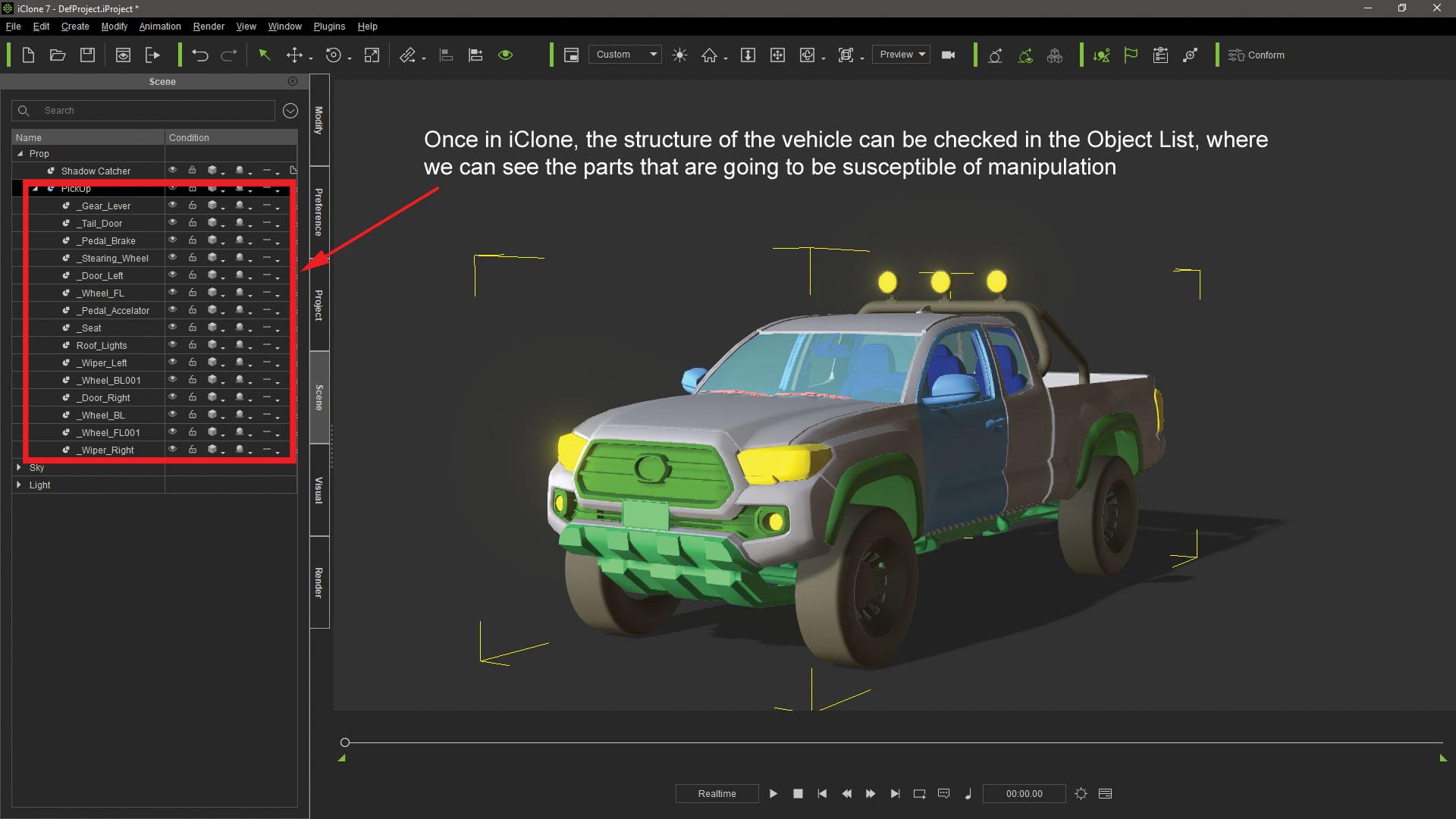 Make vehicle animations with iClone 7: Add a second vehicle to the scene