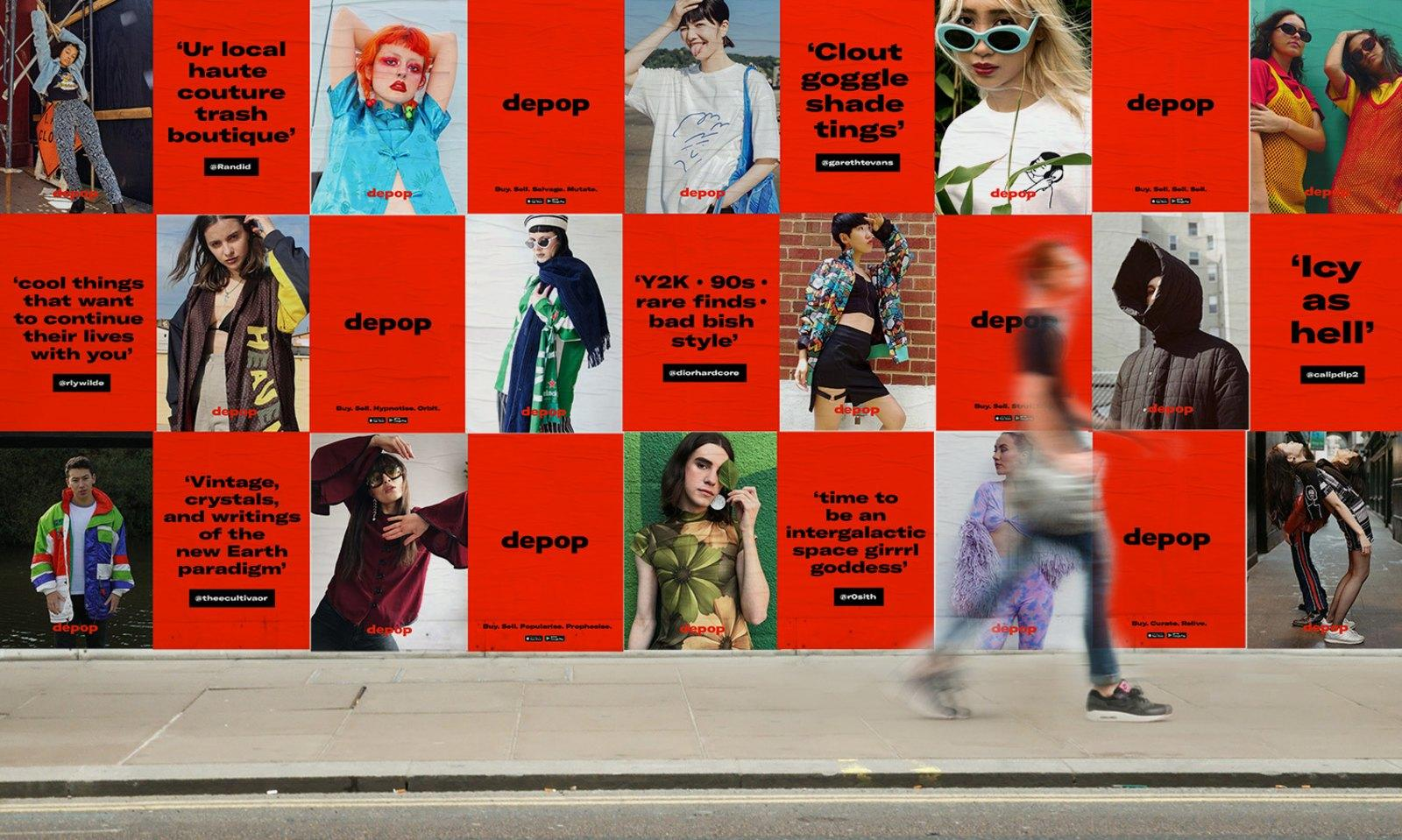 Depop asked DesignStudio to help it build its first global brand campaign