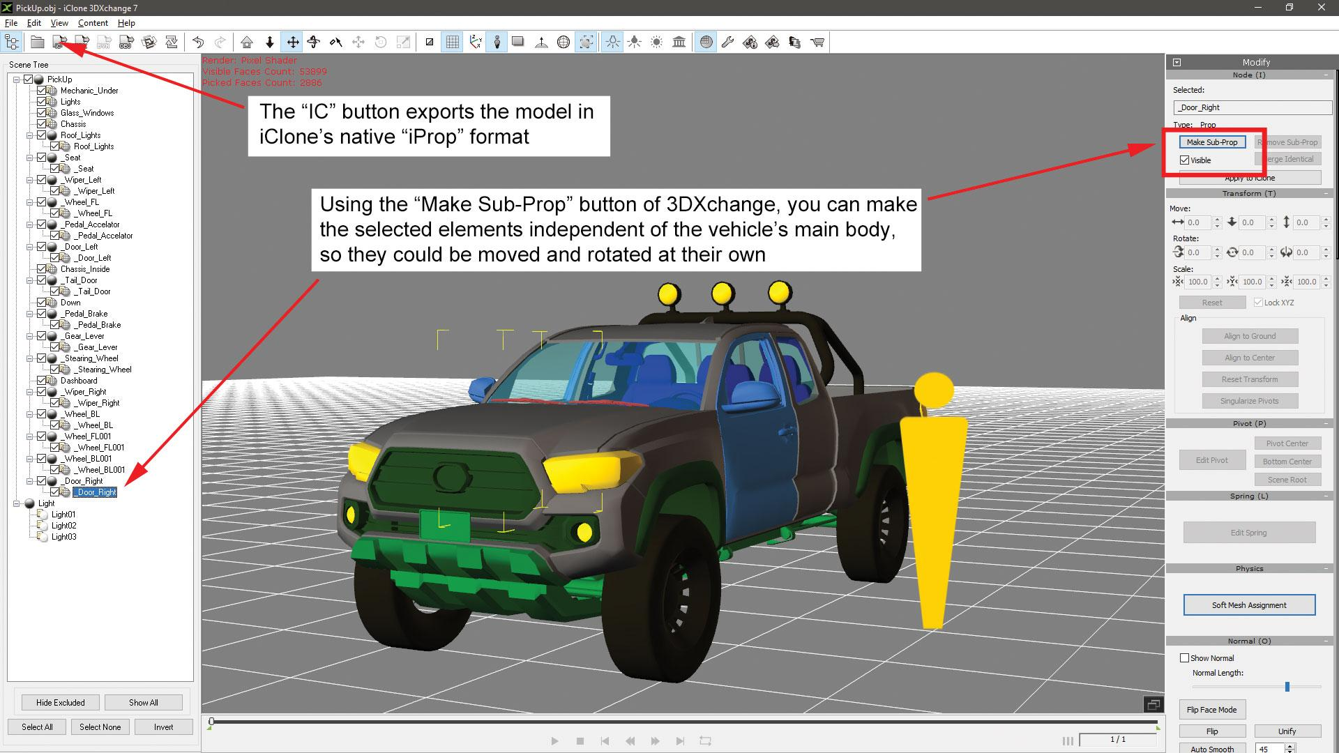Make vehicle animations with iClone 7: Check the recorded motion