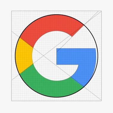 Imperfect circle in Google logo