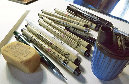 Get started with ink drawing - fine point pens