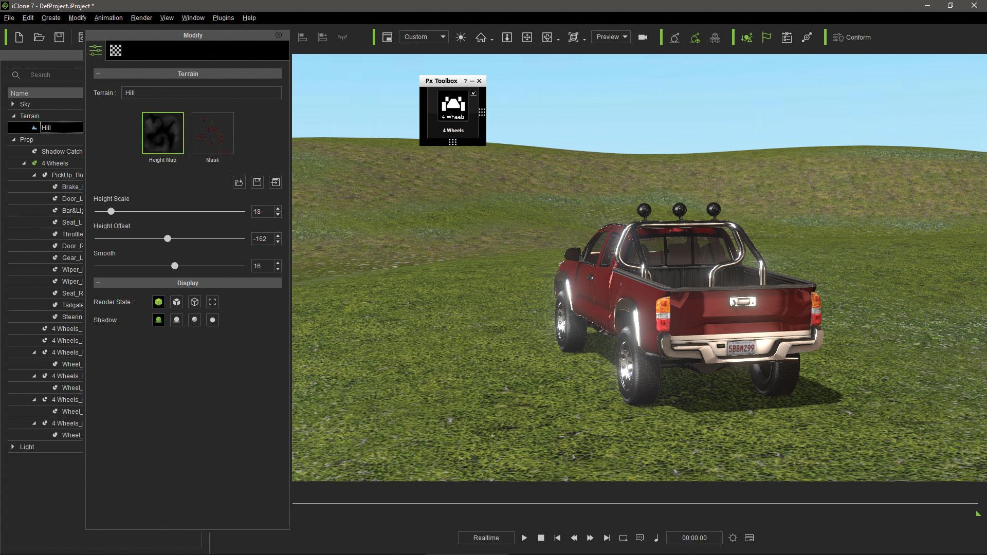 Make vehicle animations with iClone 7: Add interacting props