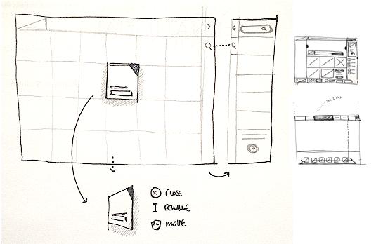Website layouts: UX sketch