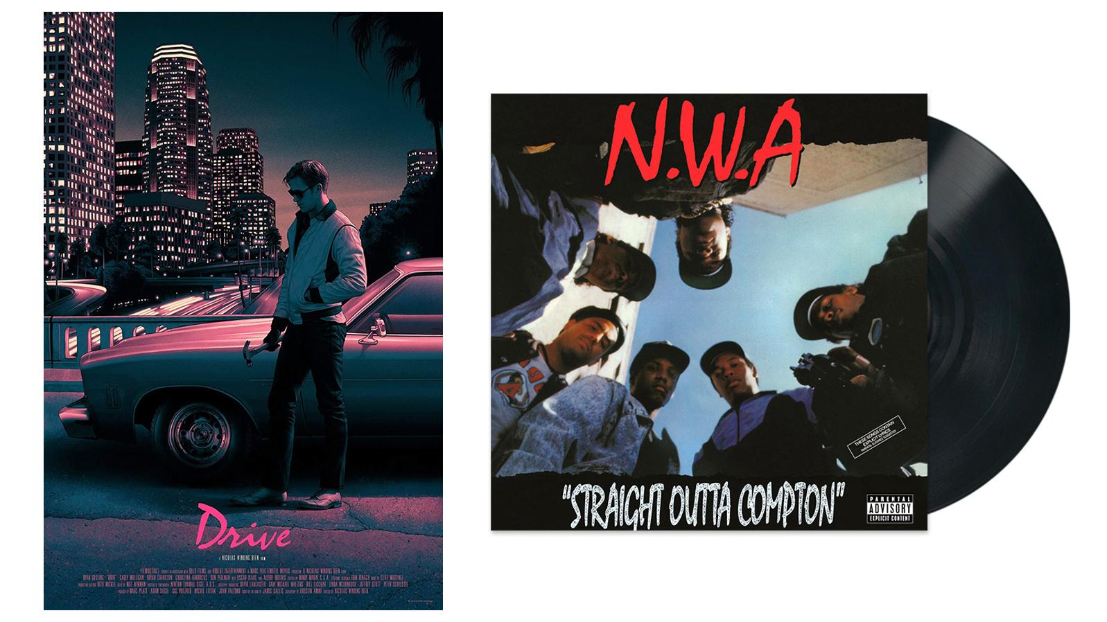 Mistral used on Drive poster and Straight Outta Compton album cover