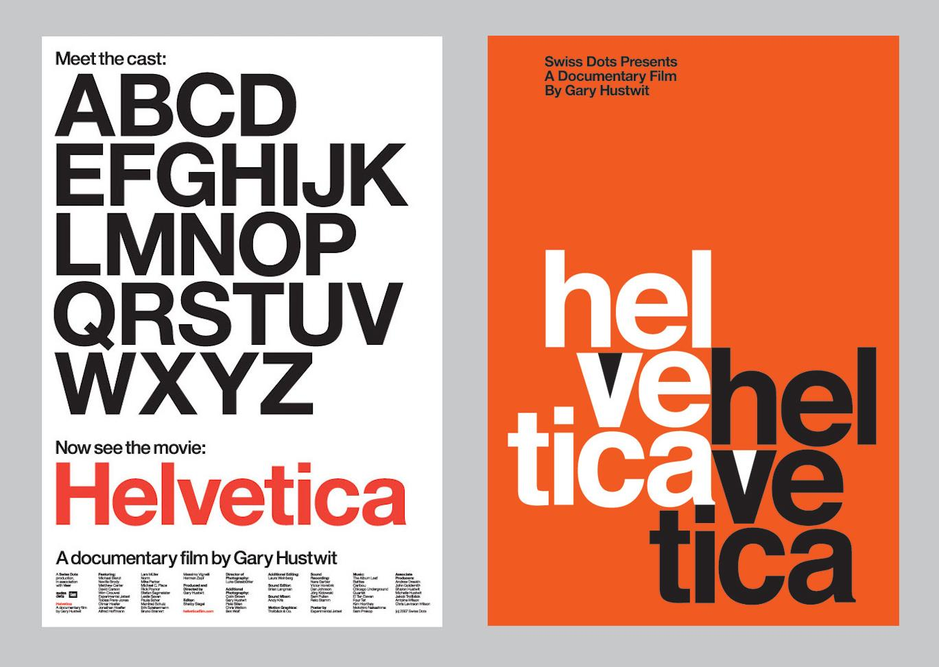 Helvetica movie posters by Experimental Jetset