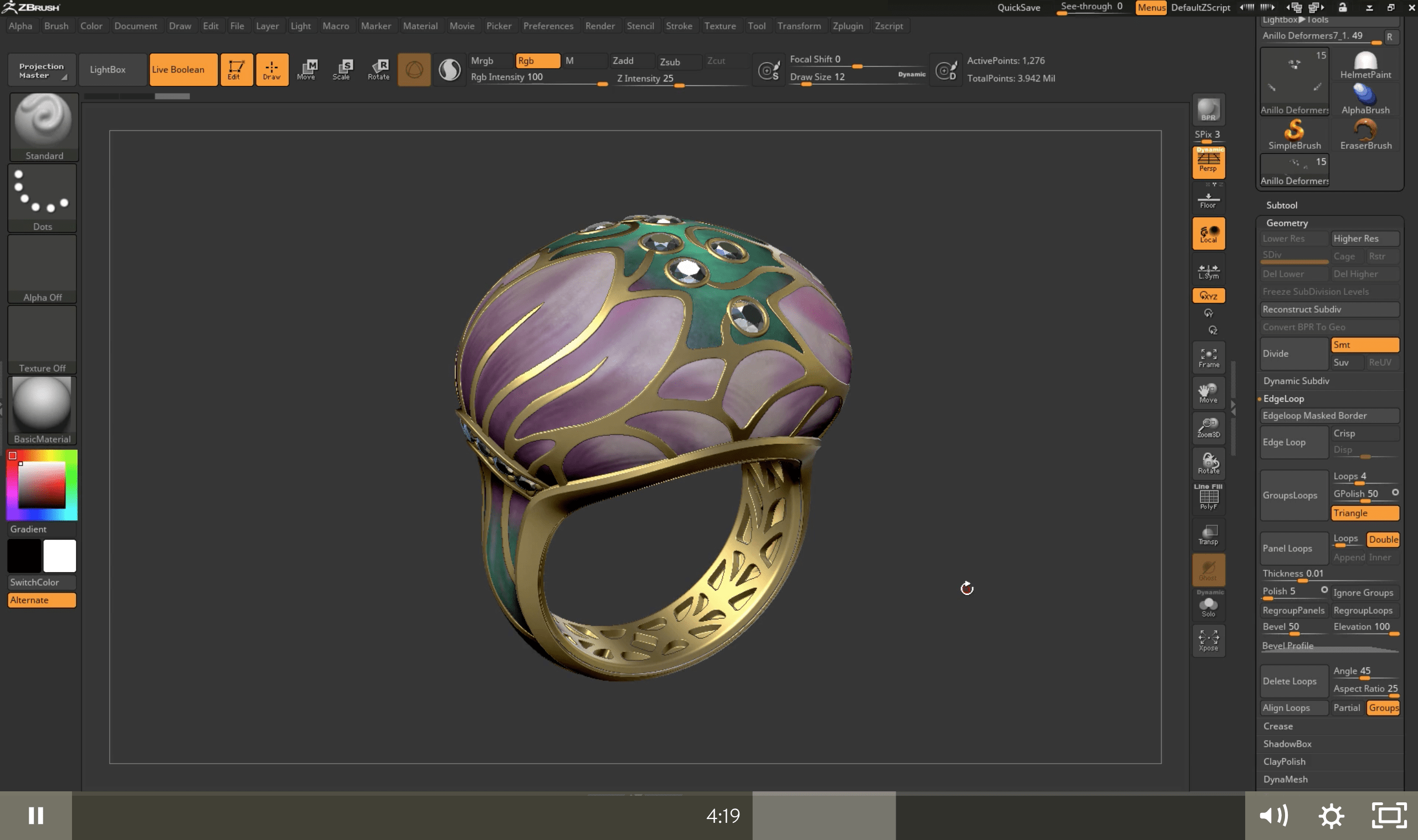 ZBrush tutorials: Polypaint with PolyGroupIt
