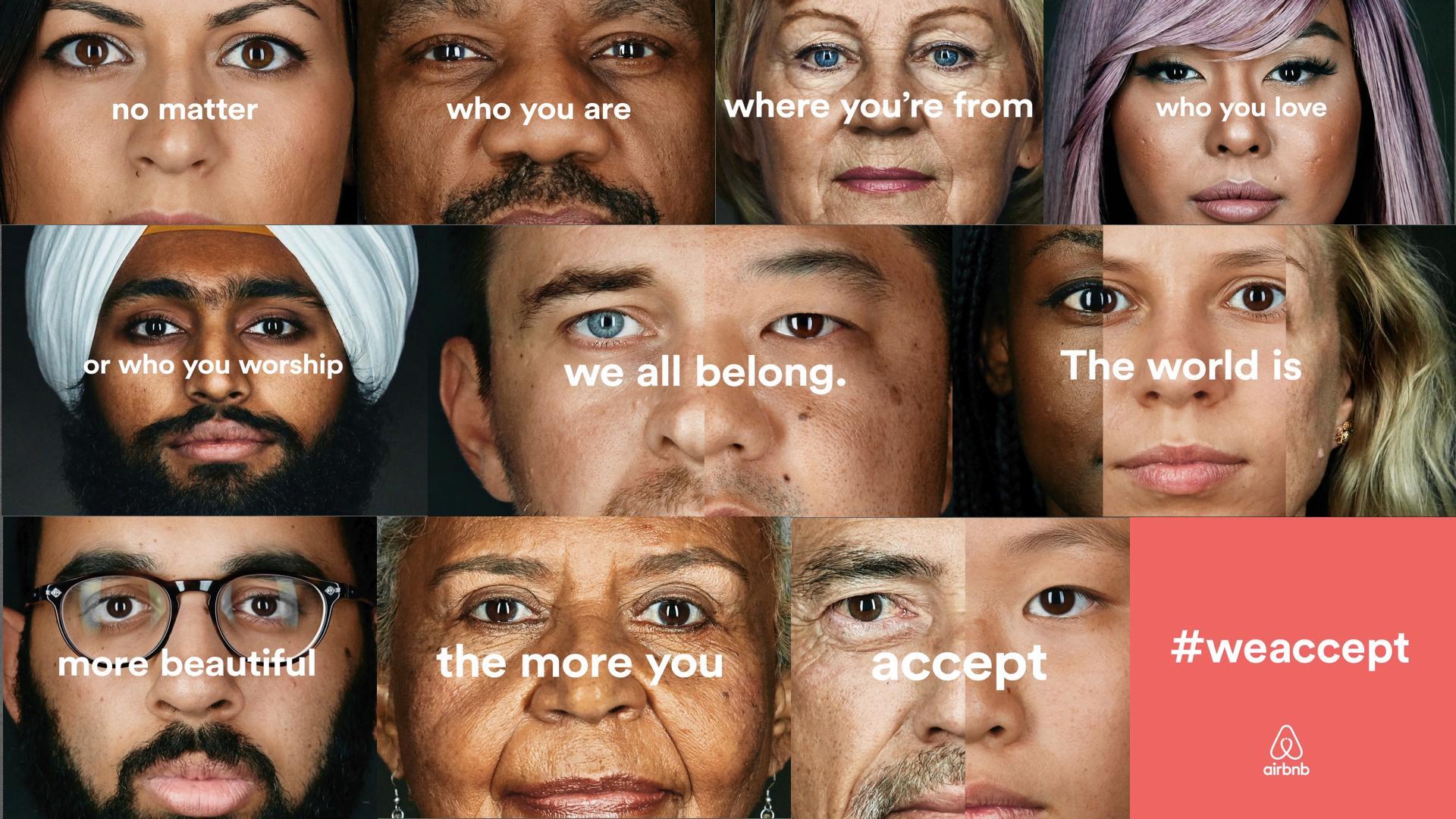 Airbnb #WeAccept campaign