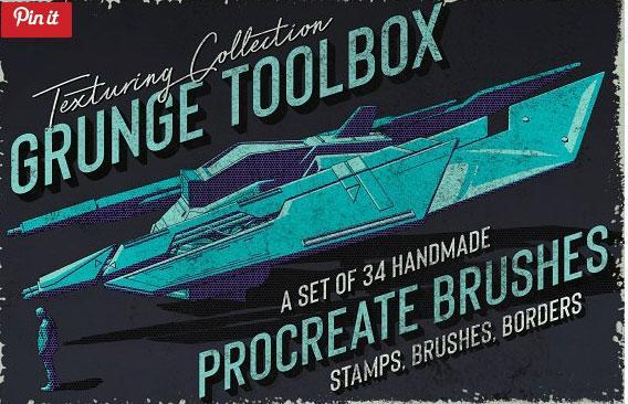 Grunge Toolbox Procreate Brushes